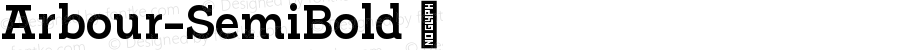 Arbour-SemiBold ☞ Version 1.001;PS 001.001;hotconv 1.0.88;makeotf.lib2.5.64775;com.myfonts.easy.typeunion.arbour.semi-bold.wfkit2.version.4HxK