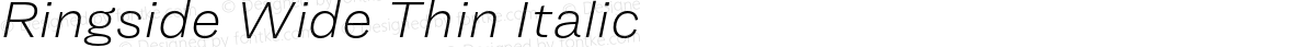 Ringside Wide Thin Italic