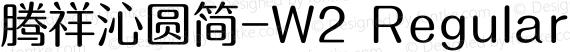 腾祥沁圆简-W2 Regular preview image