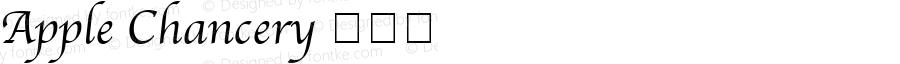 Apple Chancery 档案体 8.0d1e1