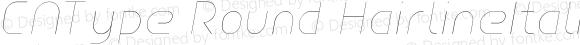 CNType Round HairlineItalic