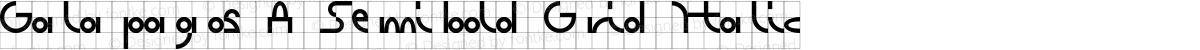 Galapagos A Semibold Grid Italic