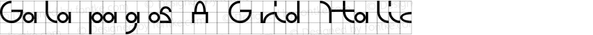 Galapagos A Grid Italic Preview Image