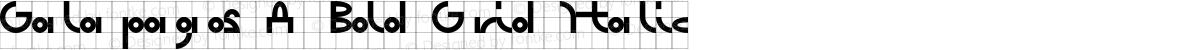 Galapagos A Bold Grid Italic