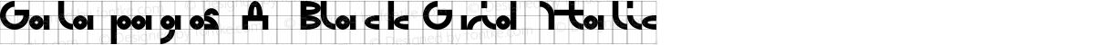Galapagos A Black Grid Italic