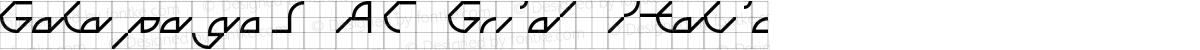 Galapagos AC Grid Italic