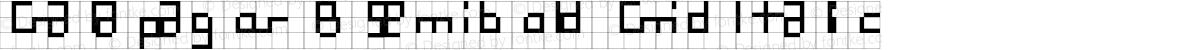 Galapagos B Semibold Grid Italic