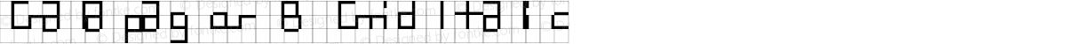Galapagos B Grid Italic