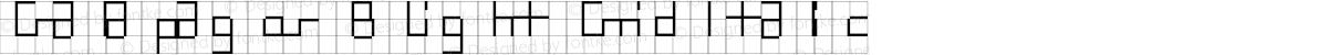 Galapagos B Light Grid Italic