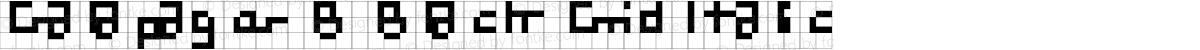 Galapagos B Black Grid Italic
