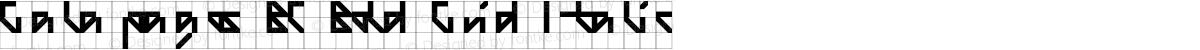Galapagos BC Bold Grid Italic
