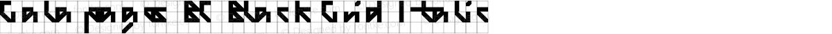 Galapagos BC Black Grid Italic