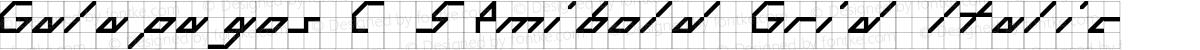 Galapagos C Semibold Grid Italic