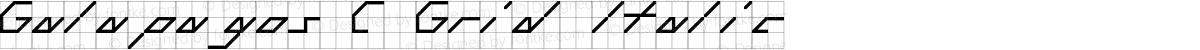 Galapagos C Grid Italic