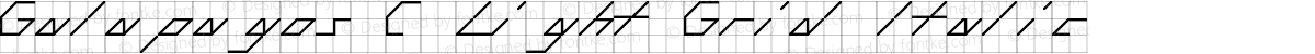 Galapagos C Light Grid Italic