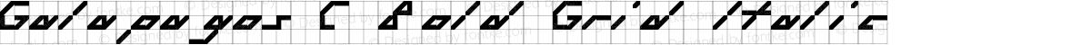 Galapagos C Bold Grid Italic