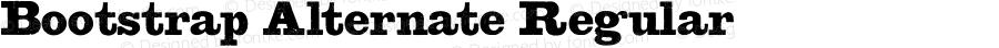 Bootstrap Alternate Regular Version 1.001 2014