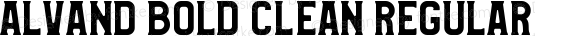 Alvand Bold Clean Regular Version 1.00 February 20, 2017, initial release