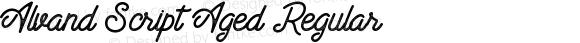 Alvand Script Aged Regular Version 1.00 February 20, 2017, initial release