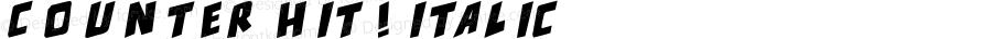 counter hit! Italic Version 1.00 December 13, 20