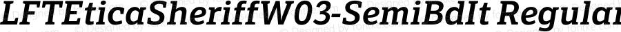 LFTEticaSheriffW03-SemiBdIt Regular Version 1.20