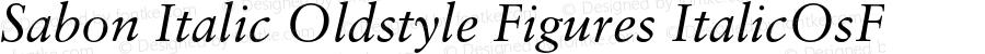 Sabon Italic Oldstyle Figures ItalicOsF 001.000