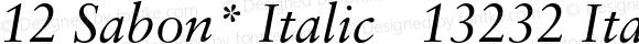 12 Sabon* Italic   13232 Italic