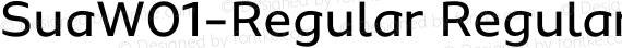 SuaW01-Regular Regular preview image
