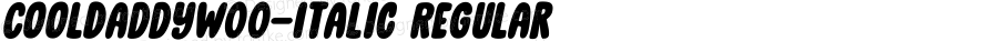 CoolDaddyW00-Italic Regular Version 1.00