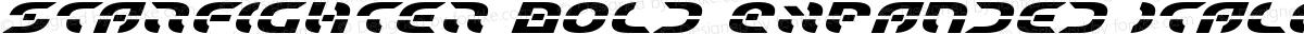 Starfighter Bold Expanded Italic Bold Expanded Italic