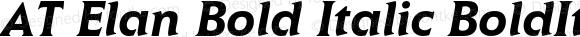 AT Elan Bold Italic BoldItalic 1.0