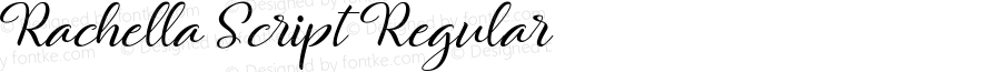 Rachella Script Regular Version 1.000