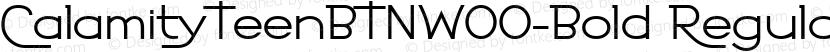 CalamityTeenBTNW00-Bold Regular Preview Image
