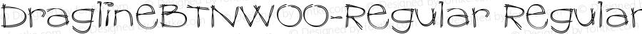 DraglineBTNW00-Regular Regular Version 1.00