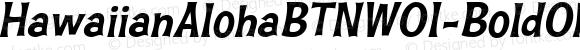 HawaiianAlohaBTNW01-BoldObl Regular Version 1.00