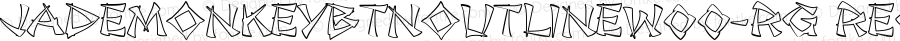 JadeMonkeyBTNOutlineW00-Rg Regular Version 1.00