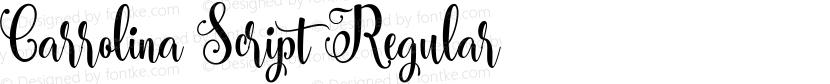 Carrolina Script Regular Preview Image