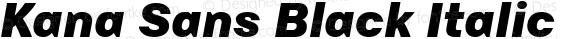 Kana Sans Black Italic Version 3.00