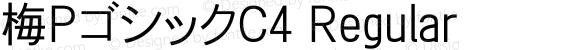 梅PゴシックC4 Regular preview image