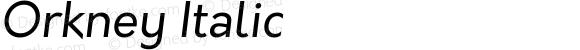 Orkney Italic