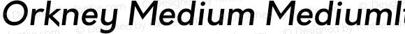 Orkney Medium MediumItalic