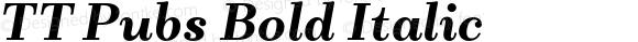TT Pubs Bold Italic