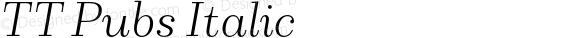 TT Pubs Italic
