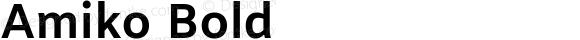Amiko Bold Version 1.000; ttfautohint (v1.3)