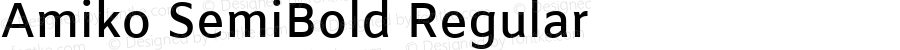 Amiko SemiBold Regular Version 1.000; ttfautohint (v1.4.1)