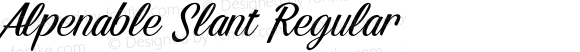 Alpenable Slant Regular Version 1.000;PS 001.001;hotconv 1.0.56