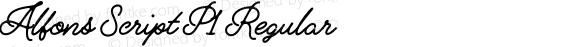 Alfons Script P1 Regular preview image