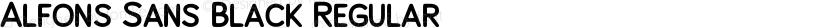 Alfons Sans Black Regular Preview Image
