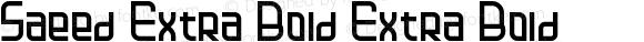 Saeed Extra Bold Extra Bold
