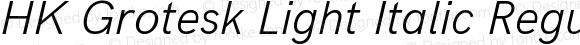 HK Grotesk Light Italic Regular